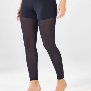 Fabletics black sheer leg leggings sz S NWT